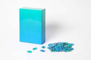 Gradient Puzzle - Blue/Green