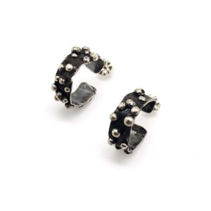Small Dotted Hoop Earring