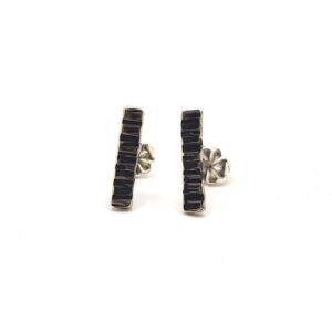 SS Sm Bark Stick Earrings