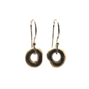 Brz/SS Close Earrings