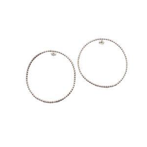 SS Lg Polka Dot Circle Earring