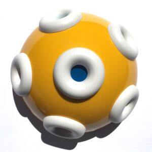 Yellow Half Sphere with Torus