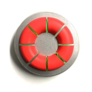 Sectioned Lifesaver on Silver