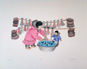 Drying Fish - Mary Okheena