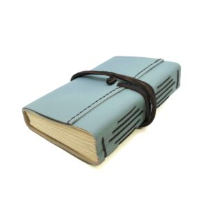 Med Leather Wrap Book