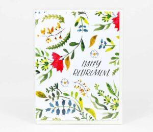 Retirement Floral Card