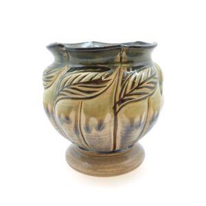 Vase Leaf Green