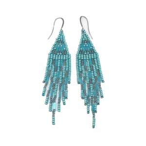 Lrg Fringe Beaded Earring