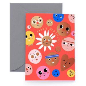 Happy Faces Card