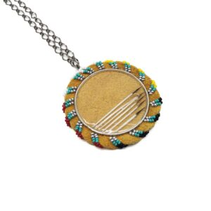Quill and Beaded Medallions