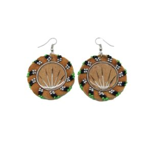 Quill and Beaded Earrings