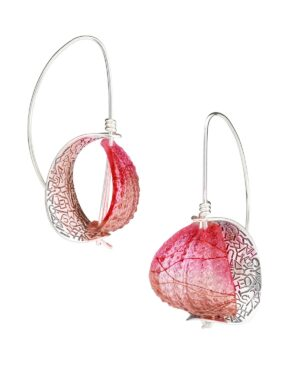 Retroflex Earrings lg Peach