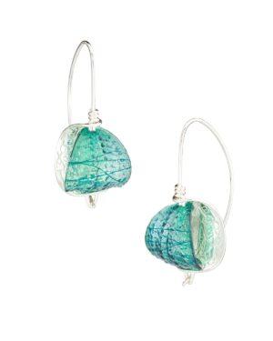 Retroflex Earrings sm Bl Seagl